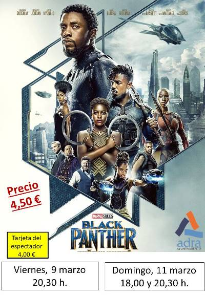 9 y 11 marzo BLACK PANTHER